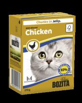 Bozita консервы для кошек кусочки в желе Рубленая курица 370 г