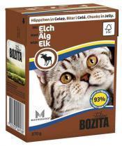 Bozita консервы для кошек кусочки в желе с мясом Лося 370 г