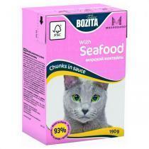 Bozita Mini with Seafood консервы для кошек с морепродуктами 190 г