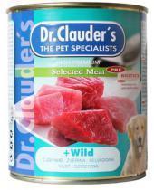 Dr. Clauder`s консервы для собак с дичью / 800г*6шт