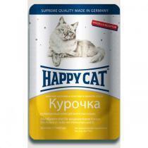 Happy Cat консервы для кошек с курицей 100 г (22 штуки)