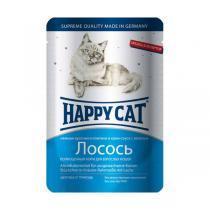 Happy Cat консервы для кошек с лососем 100 г (22 штуки)
