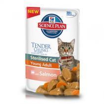 Hills Adult Sterilised Salmon консервы для стерилизованных кошек с лососем 80 г (12 штук)