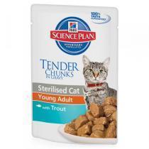Hills Adult Sterilised Trout консервы для стерилизованных кошек с форелью 80 г (12 штук)