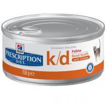 Hills Feline k/d лечебные консервы для кошек с заболеваниями почек 156 г