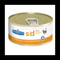 Hills Feline s/d лечебные консервы для кошек Растворение струвитов 156 г