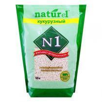 """Naturel №1 """"Кукурузный"""" наполнитель древесный комкующийся 4,5 л"""