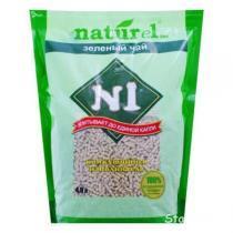 """Naturel №1 """"Зеленый чай"""" наполнитель древесный комкующийся 4,5 л"""