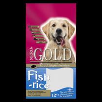 Nero Gold Fish & Rice 24/13 сухой корм для собак с рыбой и рисом при пищевой аллергии 12 кг