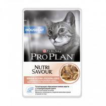 Pro Plan Nutrisavour Housecat консервы для кошек с лососем 85 г (24 штуки)