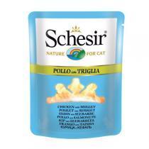 Schesir Chicken & Mullet консервы для кошек с курицей и кефалью 70 г